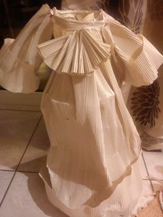 paper and wire dress