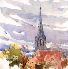 Here is the steeple - Shari Blaukopf