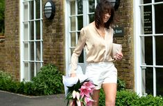 Dressing up with shorts outfit | 40plusstyle.com