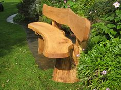 Garden bench - i like the curve to the seat