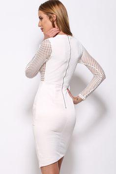 Sexy mesh dress with asymmetrical hem. Run true to size.