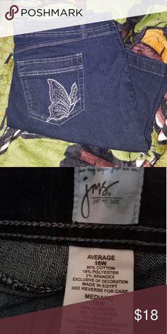 710ea7483ee63 JMS Jean Shorts Just My Size Bermuda Denim Shorts. Waist 16