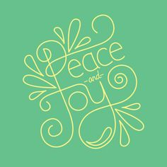 """""""Peace and Joy"""" hand lettering"""