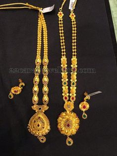 Jewellery Designs: Antique Floral Long Sets