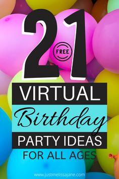 Don't let social distancing keep you from celebrating your birthday with family & friends or from having a social gathering. Here are over 20 free party ideas you can use for your next birthday party, quarantine party Facebook, quarantine party ideas, virtual birthday cake, virtual birthday card, virtual birthday gifts, virtual birthday party, virtual birthday party games, virtual birthday party ideas, virtual birthday party ideas for kids, virtual reality birthday invitations, quarantine party