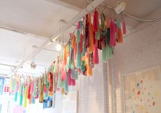 Image of Tassel Garland-Multicolor.  These tassel garlands are really expensive but I'm going to look for DIY instructions.