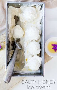Salty Honey Paleo Ice Cream {made with coconut cream + coconut milk, amazingly creamy}