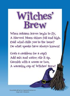 Party Favor Tag - Witches Brew