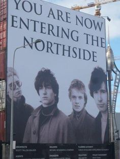 .sign at a venue at the Northside in Dublin..