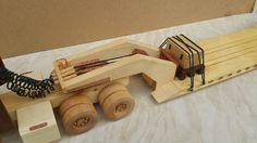 Wooden Truck, Lowboy, Krishna Radha, Peterbilt, Wood Toys, Woodworking, Construction, Train, Board