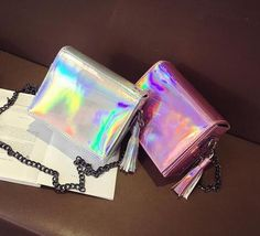 Mirror me Holographic Shoulder Messenger Bag Festival Body Jewellery, Rave Ready, Holographic Bag, Glitter Outfit, Edm Girls, Rave Outfits, Festival Fashion, Body Jewelry, Leather Men
