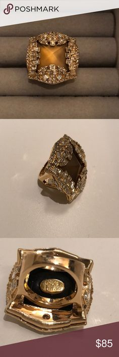 Alexis Bittar gold ring Gently used Alexis Bittar gold ring size 6.5 Alexis Bittar Jewelry Rings