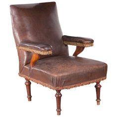 Leather Campaign Chair | From a unique collection of antique and modern armchairs at https://www.1stdibs.com/furniture/seating/armchairs/
