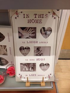 Home Collage Frames, Love Deeply, Laughter, Indoor, Home Decor, Interior, Decoration Home, Room Decor, Interior Design