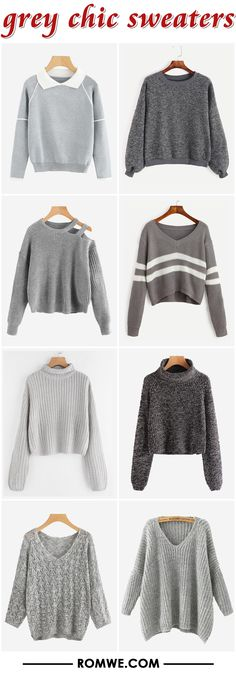 black friday sale - grey chic sweaters 2017 - rowme.com