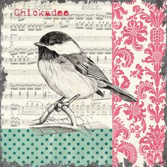 Vintage Songbird 3 Painting - Vintage Songbird 3 Fine Art Print