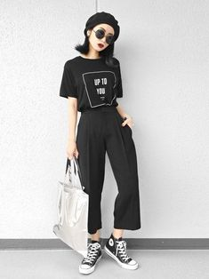 ファッション ファッション in 2020 Asian Street Style, Korean Street Fashion, Asian Fashion, Cute Fashion, Fashion Outfits, Fashion Trends, Womens Fashion, Cool Outfits, Casual Outfits