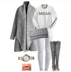 Gray Outfits, Hot Outfits, Winter Outfits, Fashion Outfits, Diva Fashion, Ladies Fashion, Fashion Design, Cute Muslim Couples, Weekly Outfits