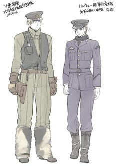 Types of uniforms. (Russia looks huggable 83 ) #tumblr #Source:ayase-memo