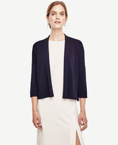 Open Front Cardigan in Navy Blue for $79.50