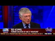 """Ted Koppel slams Fox News and tells O'Reilly that """"ideological"""" news, on the right or the left, makes it difficult for members of Congress to reach across the aisle and work toward compromise."""
