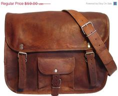 086e3e8b8c Leather Messenger Bag 15 inches Inch Handmade Soft Leather Mens Unisex Ipad  Satchel Shoulder Handbags Bags Pouch Case For him or her