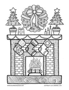Christmas coloring pages coloring books and colouring pages