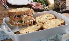 A classic French sandwich is reinvented into a delicious casserole that will satisfy any breakfast or brunch crowd. Sandwiches For Lunch, Soup And Sandwich, Wrap Sandwiches, French Sandwich, Brunch, Casserole Recipes, Food Dishes, Cooking Recipes, Egg Recipes