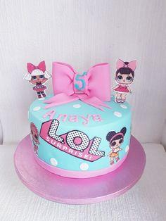 Doll Birthday Cake, Funny Birthday Cakes, Birthday Cupcakes, 7th Birthday Party Ideas, 5th Birthday, Lol Doll Cake, Surprise Cake, Paw Patrol Cake, Lol Dolls