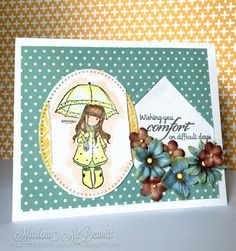 Handmade card by Marlena M. using a sentiment from the New Mercies stamp set by Verve. #vervestamps