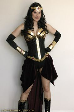 Steampunk Wonder Woman, in black.  AWESOME!! - Actually looks like  Nubia (The Black WW) from the comic book. very nice.