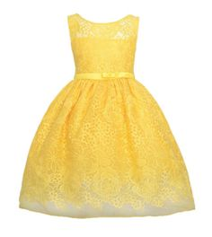 Sweet-Kids-Girls-Bright-Floral-Garden-Embroidered-Lace-Flower-Girl-Party-Dress