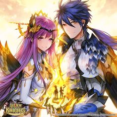 Seven Knights Global's photos Seven Knight, Knight Games, Knight Art, Fantasy Characters, Anime Characters, Artist Games, Anime Siblings, Fantasy Couples, Susanoo
