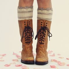 Brooklyn Boot Liners knit with Baah La Jolla fingering weight yarn (pattern also includes matching fingerless gloves!)