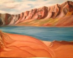 oil on canvas - 100 x 70 cm Antelope Canyon, Oil On Canvas, Paintings, Nature, Travel, Art, Art Background, Naturaleza, Viajes