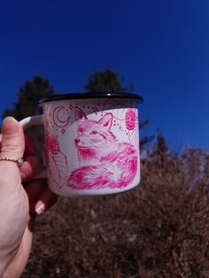 Unique Gifts, Best Gifts, Handmade Gifts, Coffee With Friends, Raspberry Fruit, Hand Painted Mugs, Cardboard Tubes, White Enamel, Paper Gifts