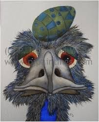 Image result for emu paintings