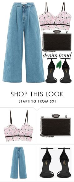 """""""the sun will always rise and dogs always be happy to see you"""" by rupp ❤ liked on Polyvore featuring Hanky Panky, Karl Lagerfeld, dVb Victoria Beckham, Yves Saint Laurent, Laura Cole, CasualChic, denimtrend and widelegjeans"""