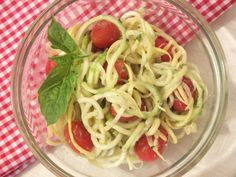 Summer squash pasta with creamy avocado pesto | Meatless Monday | Zucchini Pasta | From The Fitchen