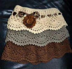 Crochet Skirts Crochet skirt pattern free for women - Skirt Pattern Free, Crochet Skirt Pattern, Crochet Skirts, Crochet Clothes, Free Pattern, Knitted Skirt, Crochet Doll Dress, Skirt Patterns, Coat Patterns