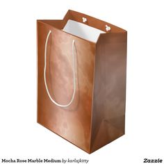 Mocha Rose Marble Medium Medium Gift Bag