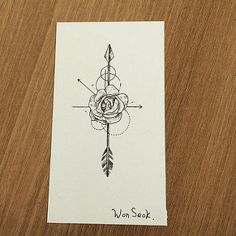 Rose&Arrow tattoo design 장미 화살 도안 #illust #tattoo #desig… | Flickr