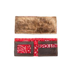 This is a high quality men's wallet designed and handmade by members of our team locally here in the USA. The wallet is made of a high quality Brindle cowhide. This is real hide so each one will be sl