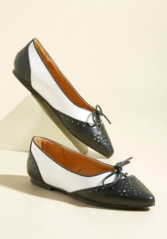 1950s Style Shoes Skimmer It Over Vegan Flat $39.99 AT vintagedancer.com