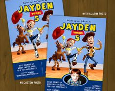 Toy Story Invitation - Toy Story Cowboy Printable Birthday Invitation featuring Woody, Jessie and Bullseye