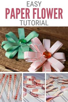 Make fun and easy paper flowers to use as papercraft embellishments. Click here for the step-by-step tutorial, Easy Flowers with Paper Loops. #thecraftyblogstalker #paperflowers #easypaperflowers… Easy Paper Flowers, Paper Flower Tutorial, Diy Flowers, Easy Diy Crafts, Crafts To Sell, Fun Crafts, Paper Gifts, Diy Paper, Paper Crafting