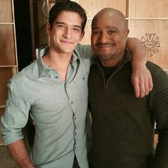 Tyler Posey and Seth Gilliam on the set of #TeenWolfSeason5