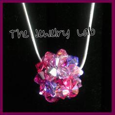 Swarovski Crystal Beaded Bead Pendant Necklace - 6mm. $23.00, via Etsy.