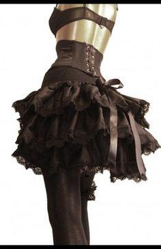 Silk bustle skirt size M