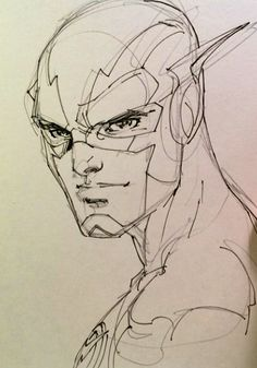 Sketch of The Flash by Jim Lee
